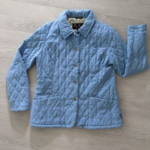 Barbour Pastel Blue Quilted Lined Jacket